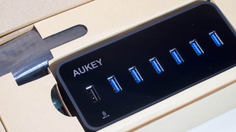 Aukey USB 3.0 HUB mit LAN Anschluss und 6 USB Ports im Test, ideal für MacBooks oder Ultrabook-2