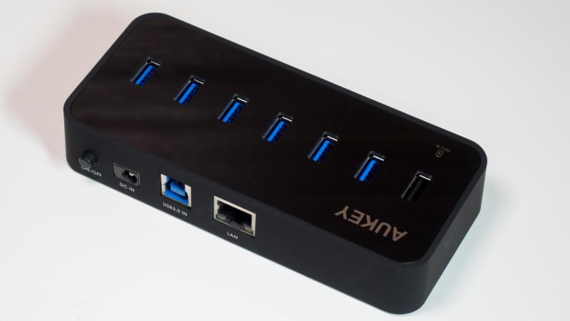 Aukey USB 3.0 HUB mit LAN Anschluss und 6 USB Ports im Test, ideal für MacBooks oder Ultrabook-3