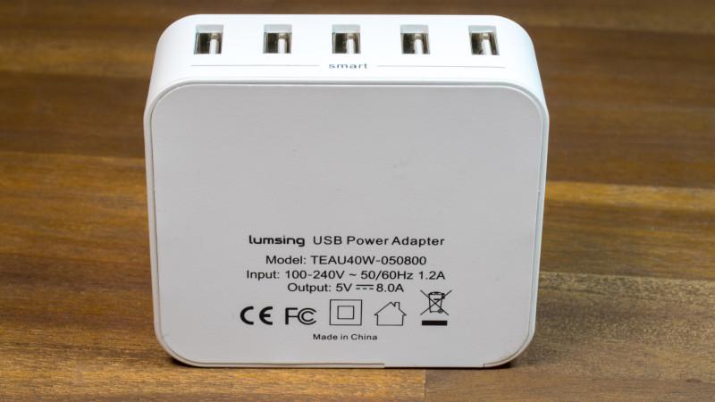 Lumsing 5-Port Desktop USB Ladegerät im Test Review-8