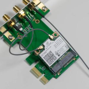 PCIe Mini Card WLAN Adapter im Desktop Einsetzten (PCIe Mini Card auf PCIe Adapter)