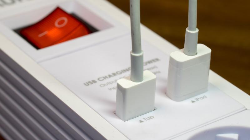 Steckdosenleiste mit USB Ports zum Aufladen von Smartphones im Test Review Aukey PA-S2-6