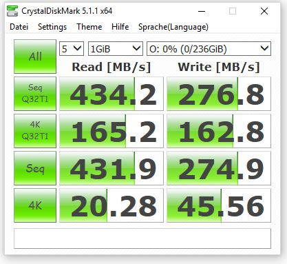 TrekStor DataStation picco SSD Crystal Diskmark