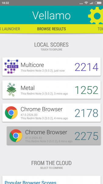 Vellamo Mobile Benchmark Xiaomi RedMi 3 im Benchmark Check Mediatek MTK6795 Helio X10 (4)