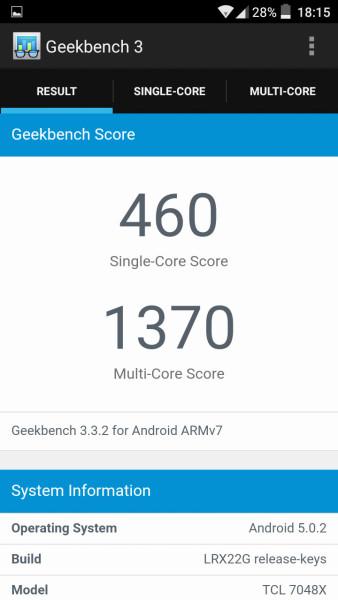 Alcatel Go Play Geekbench