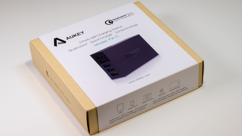 Aukey PA-T1 5 Port USB Ladegerät mit Quick Charge Test Review-1