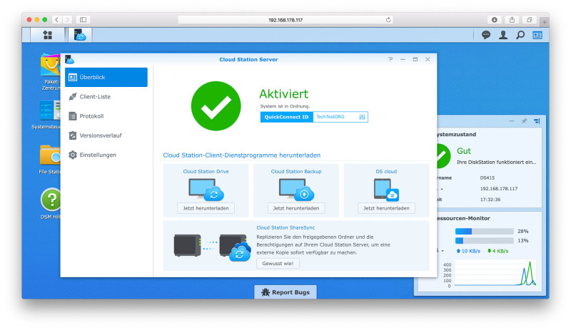 Synology DS415+ NAS im Test DSM-181