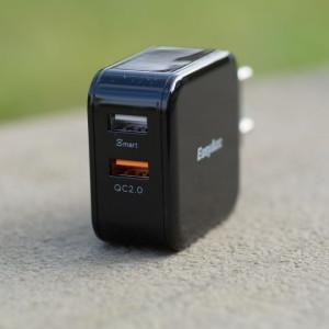 Günstiges Quick Charge Ladegerät im Test, EasyAcc 30W 2-Port USB Ladegerät