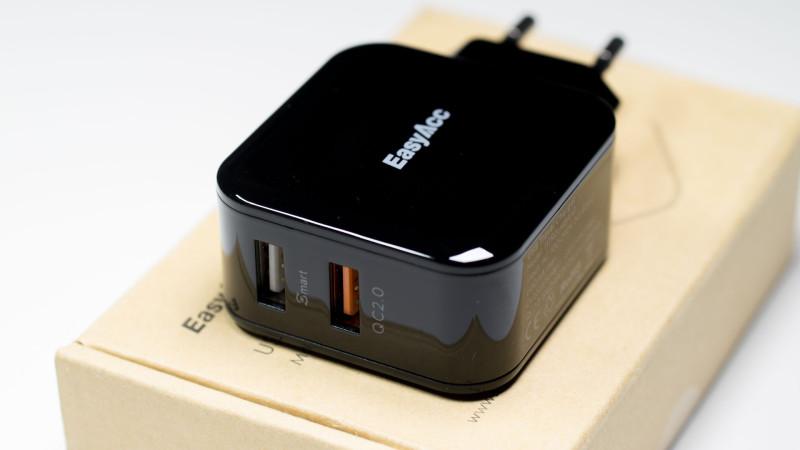 EasyAcc 30W 2-Port USB Ladegerät Test Review-5