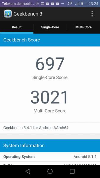 Huawei Honor 5x Geekbench