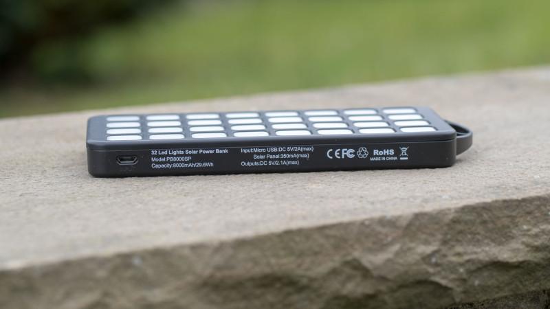 Sehr gute Solar Powerbank von EasyAcc im Test, die EasyAcc PB8000SP 8000nAh-9