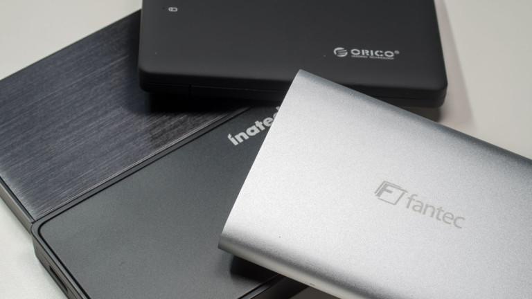 4x externe 2,5″ Festplattengehäuse im Test von FANTEC, CSL, ORICO und Inateck