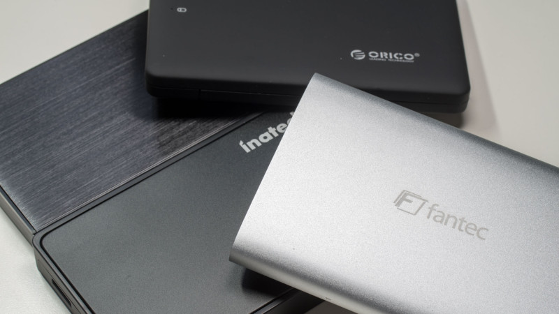 4x externe 2,5 Festplattengehäuse im Test von FANTEC, CSL, ORICO und Inateck-24