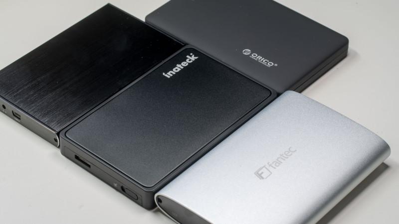 4x externe 2,5 Festplattengehäuse im Test von FANTEC, CSL, ORICO und Inateck-25