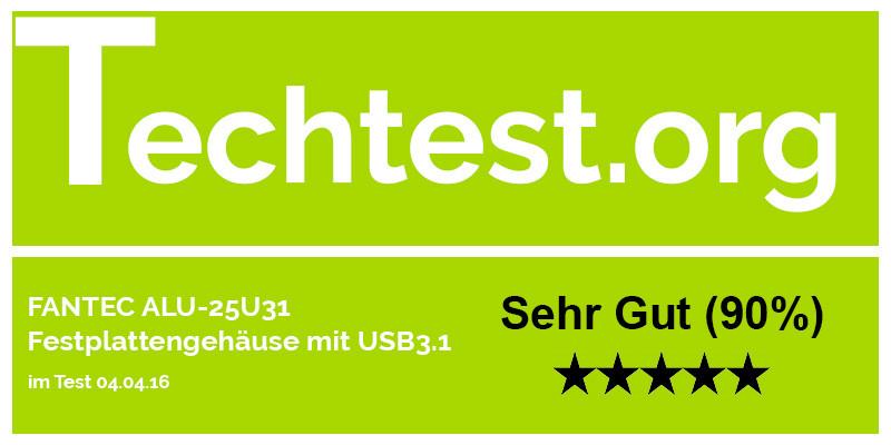 FANTEC ALU-25U31 Festplattengehäuse USB3.1 2