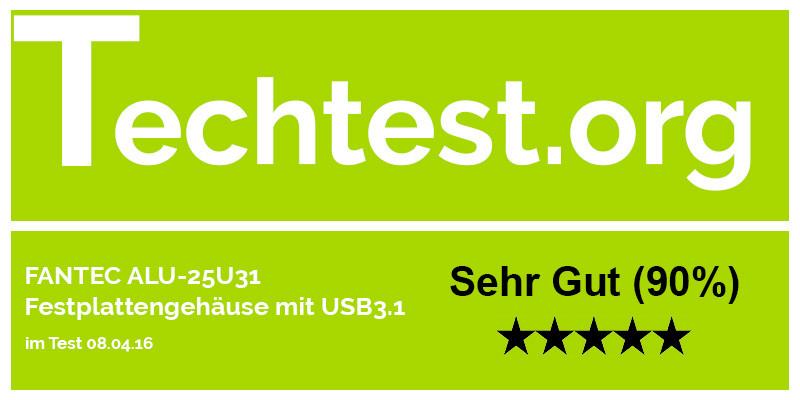 FANTEC ALU-25U31 Festplattengehäuse USB3.1