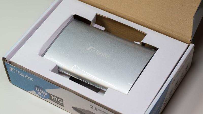 FANTEC ALU-25U31 Festplattengehäuse mit USB 3.1 im Test-2