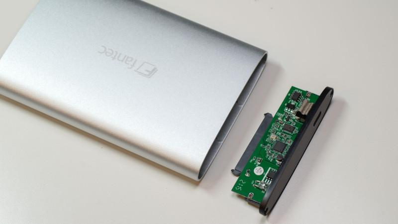 FANTEC ALU-25U31 Festplattengehäuse mit USB 3.1 im Test-5