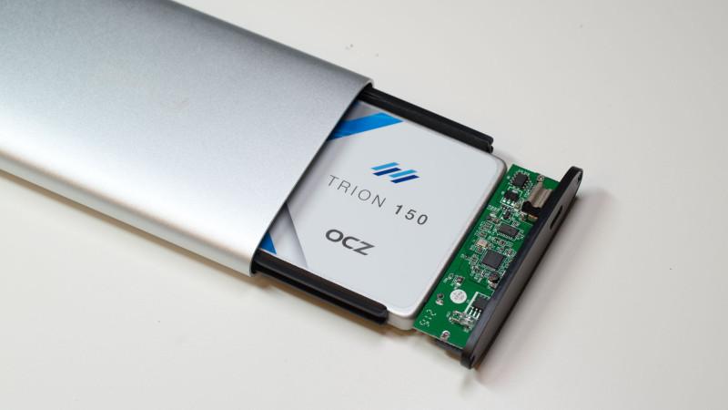 FANTEC ALU-25U31 Festplattengehäuse mit USB 3.1 im Test-8