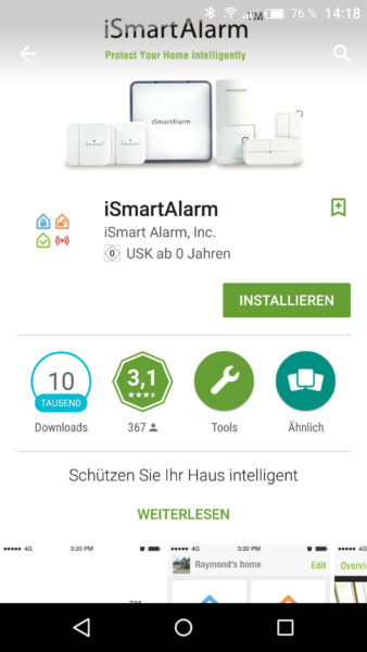 Smart Alarmanlage von iSmartAlarm Test-1