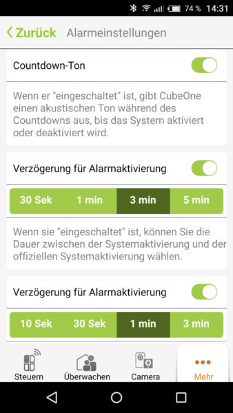 Smart Alarmanlage von iSmartAlarm Test-31