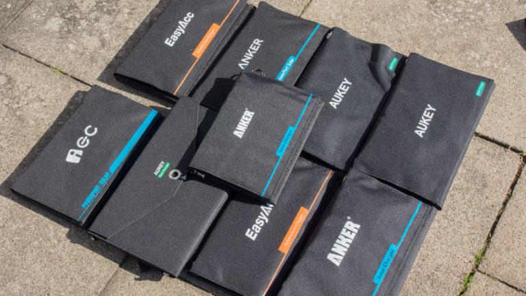 9 USB Solarladegeräte im Test von Anker, EasyAcc, AUKEY usw.