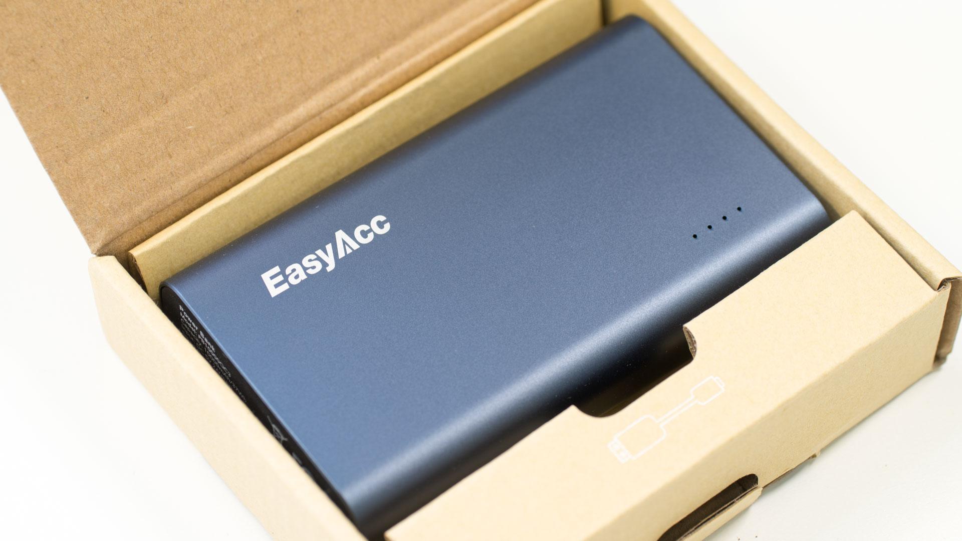 die easyacc pb10000qc3 10000mah powerbank mit quick charge. Black Bedroom Furniture Sets. Home Design Ideas