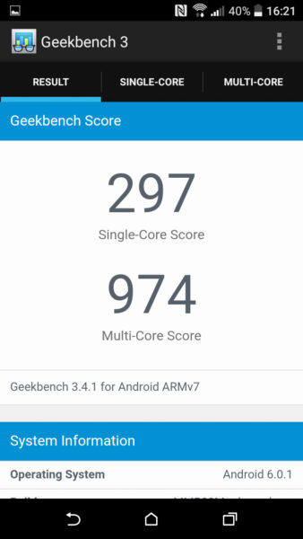 HTC Desire 530 Geekbench