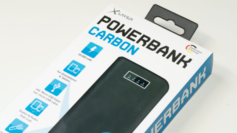 XLayer Carbon Black 20.000mAh Powerbank im Test-13