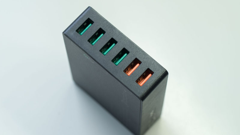 AUKEY PA-T11 60W 6-Port Ladegerät mit zwei Quick Charge 3.0 Ports im Test-5