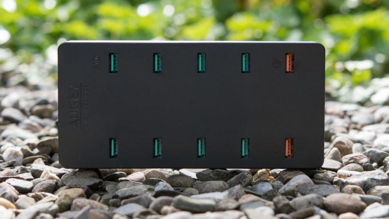 AUKEY PA-T8 10 Port USB Ladegerät mit 115W und zwei Quick Charge 3.0 Ports im Test-13