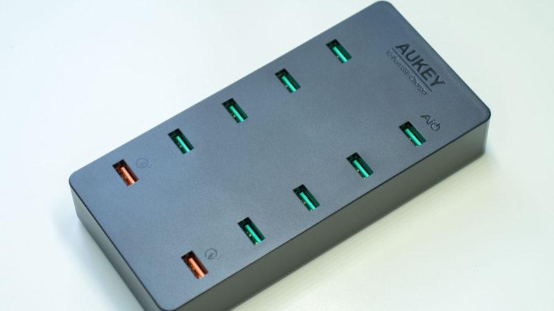AUKEY PA-T8 10 Port USB Ladegerät mit 115W und zwei Quick Charge 3.0 Ports im Test-3
