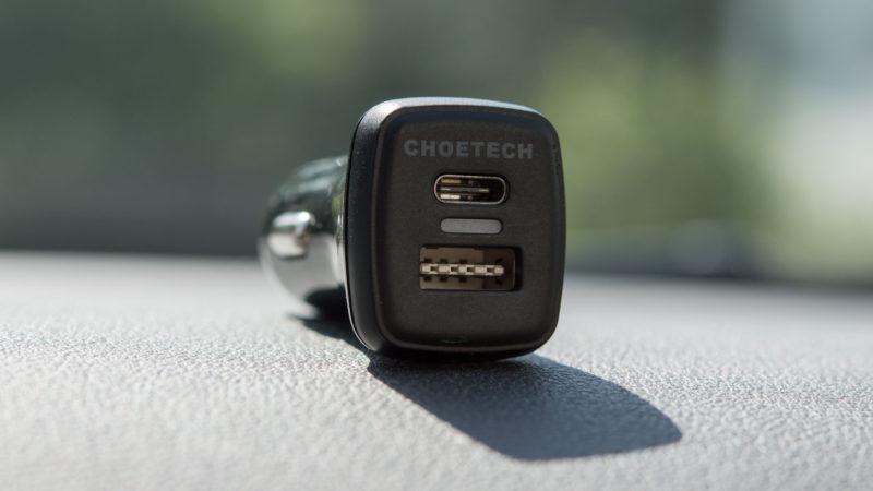 Das CHOETECH Quick Charge 3.0 KFZ Ladegerät mit USB C im Test-11