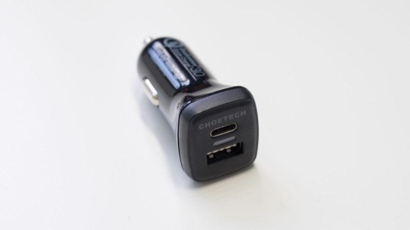 Das CHOETECH Quick Charge 3.0 KFZ Ladegerät mit USB C im Test-4