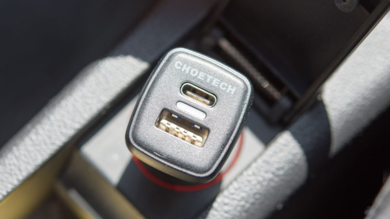 Das CHOETECH Quick Charge 3.0 KFZ Ladegerät mit USB C im Test-8