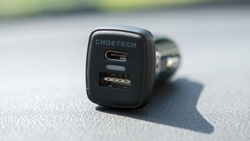 Das CHOETECH Quick Charge 3.0 KFZ Ladegerät mit USB C im Test-9