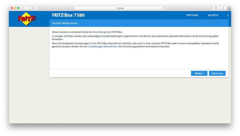 FritzBox 7580-17