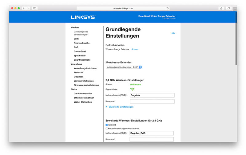 Linksys RE7000 Software-9