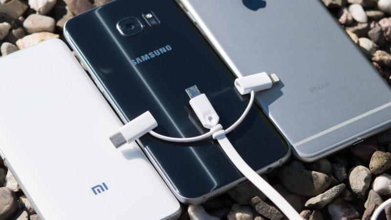 3 in 1 Kabel aus China, USB C, microUSB und Apple Lightning an einem Strang-10