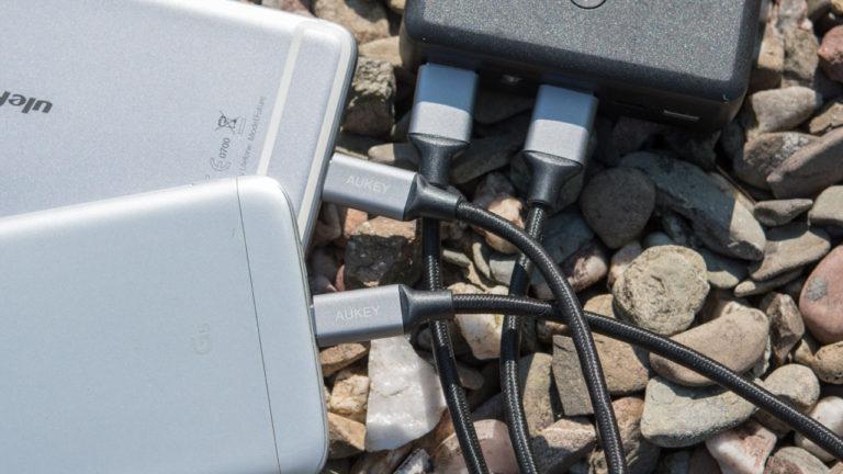 Günstige und Schnelle USB C Ladekabel, die AUKEY Nylon USB C Kabel