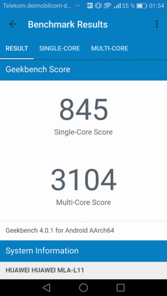 Snapdragon 625 Geekbench