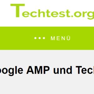 Google AMP und Techtest