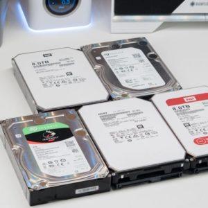 5x 8TB NAS HDDs von HGST, Seagate und Western Digital im Vergleich