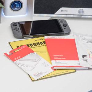 4x Displayschutzfolien für die Nintendo Switch im Vergleich