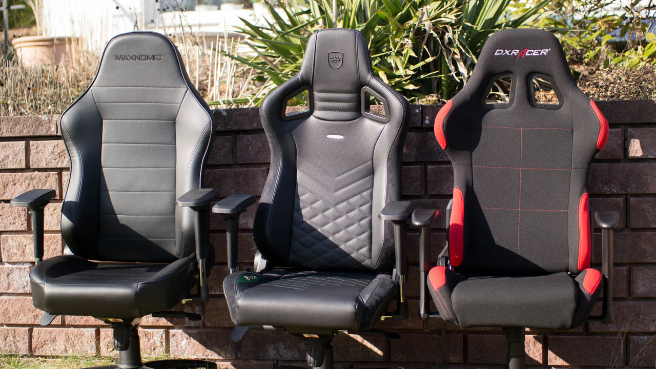 maxnomic vs dxracer vs noblechairs wer baut den besten gaming. Black Bedroom Furniture Sets. Home Design Ideas
