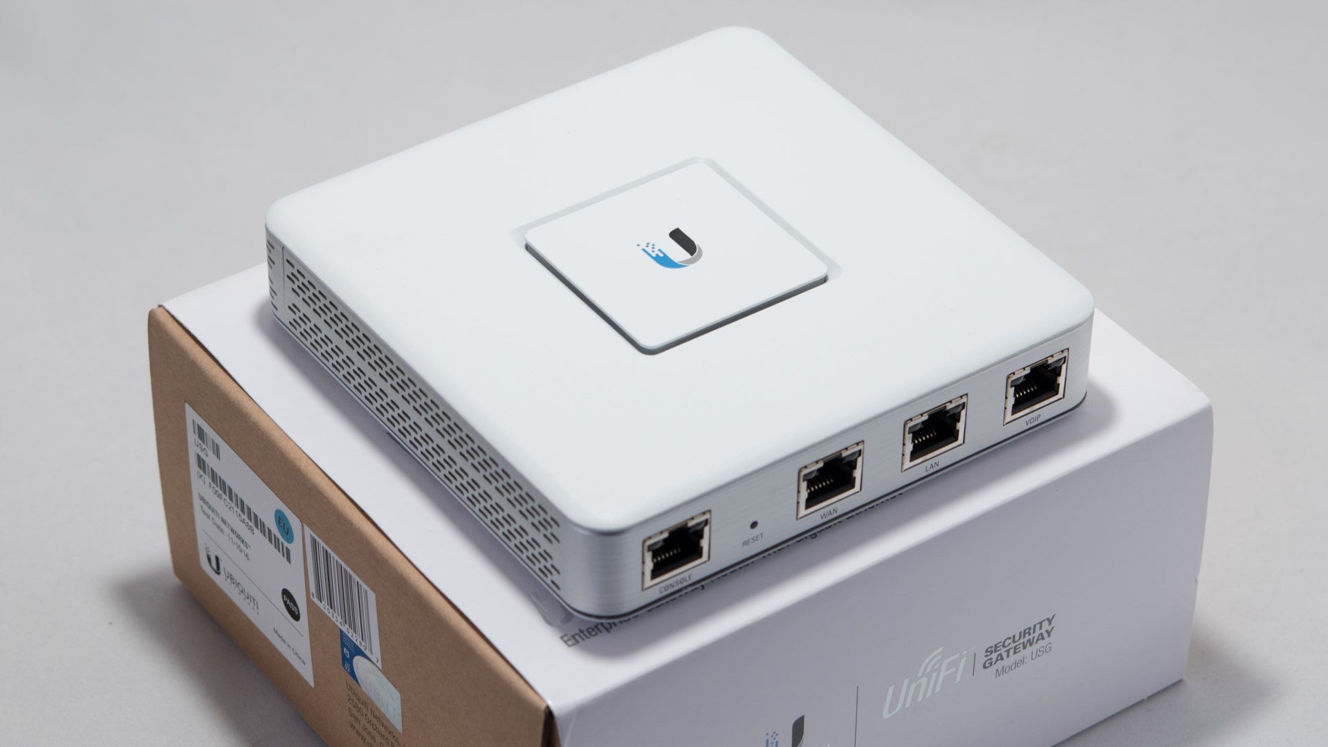 Das Ubiquiti UniFi Security Gateway im Test, die volle