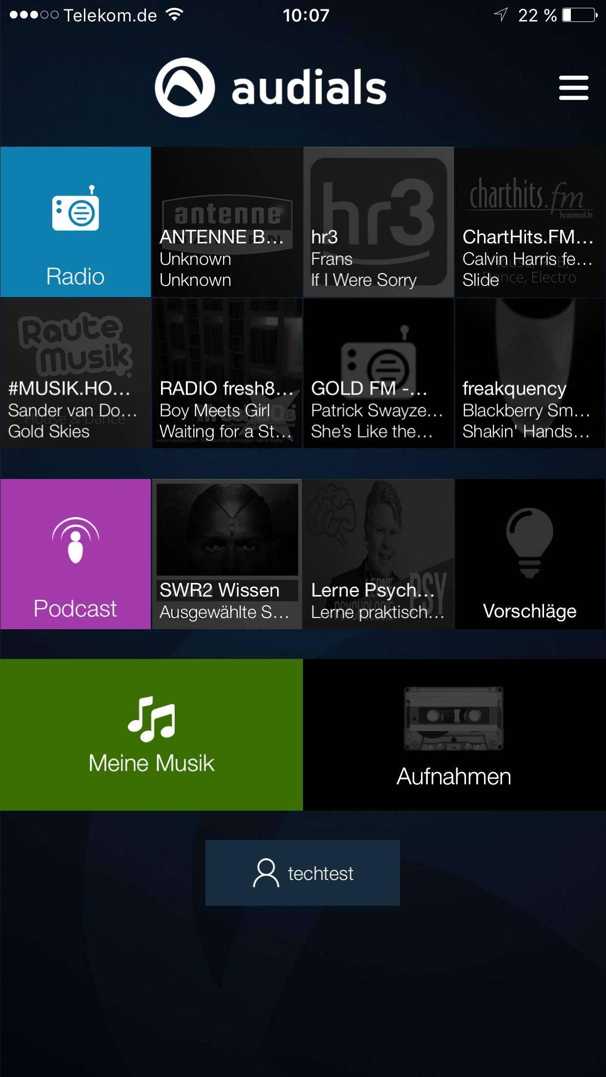 Test Radio App