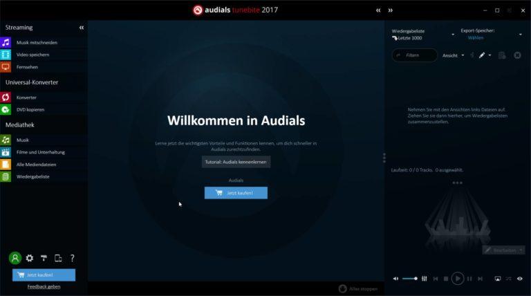 Audials Tunebite Platinum im Test, Spotify und co. einfach aufzeichnen?