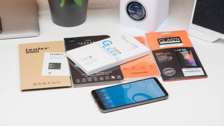 5x Displayschutzfolien/Gläser für das LG G6 im Test