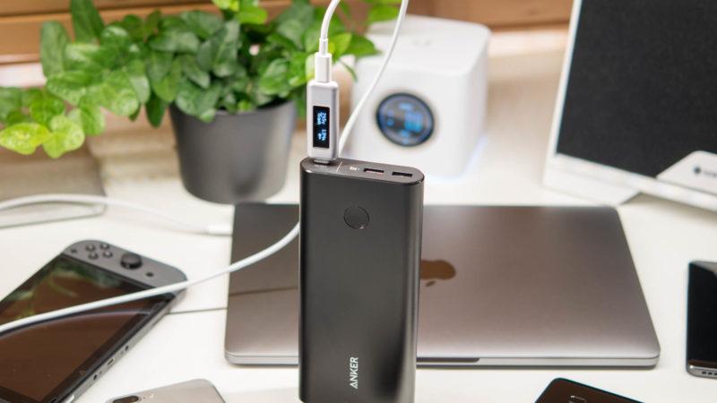 Anker PowerCore+ 26800mAh mit Power Delivery im Test 14,5V und rund 2A gehen in das MacBook Pro