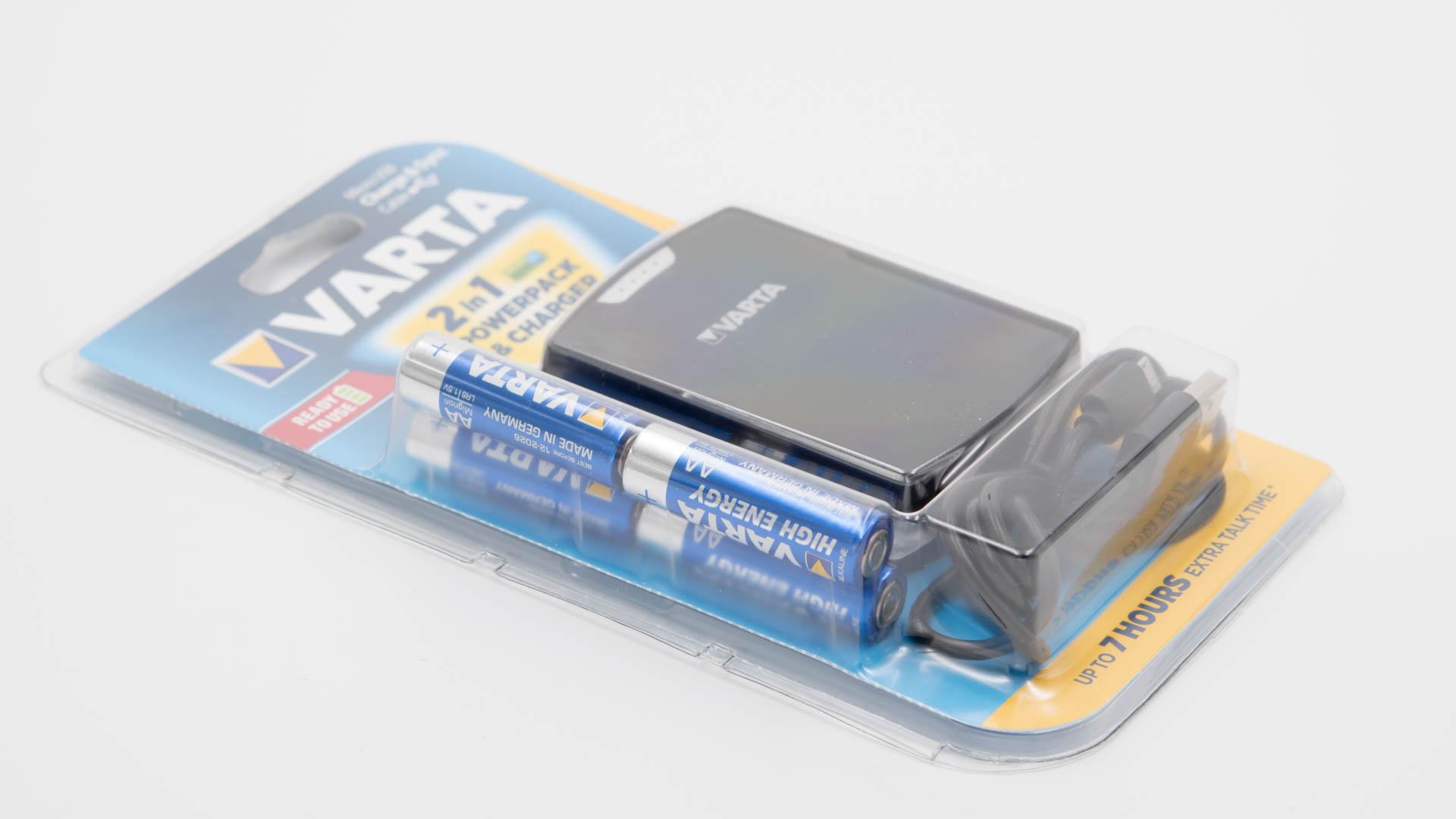 das varta 2 in 1 powerpack charger im test sein smartphone mit aa batterien laden techtest. Black Bedroom Furniture Sets. Home Design Ideas